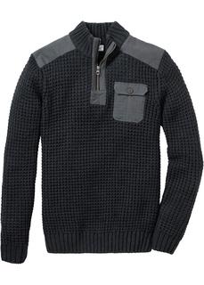 Мужские пуловеры Пуловер Regular Fit своротником-стойкой Bonprix