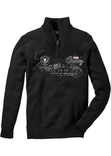 Мужские пуловеры Пуловер с воротником тройер Bonprix