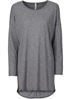 Длинный рукав и круглый вырез Удлиненная футболка Bonprix