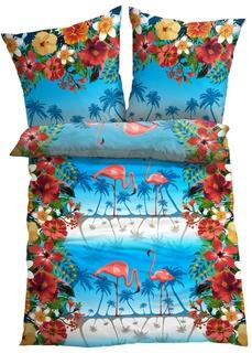Постельное белье с рисунком фламинго Bonprix