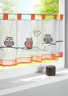 Короткие шторы Кухонная занавеска с вышивкой совы Bonprix