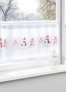 Короткие шторы Занавеска Снеговик Bonprix