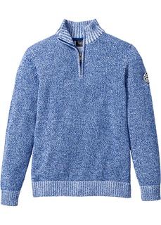 Пуловерыи кардиганы Пуловер с воротником на молнии Bonprix