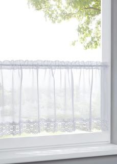 Короткие шторы Занавеска кухонная с кружевным кантом Bonprix