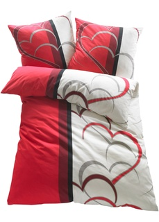 Постельное белье с рисунком в виде сердец Bonprix