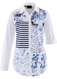 Блузки с длинным рукавом Блузка с принтом пэчворк Bonprix