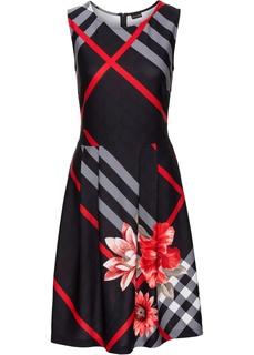 Короткие платья Платье в клетку Bonprix