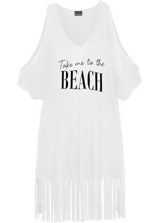 Пляжная одежда Футболка с бахромой Bonprix