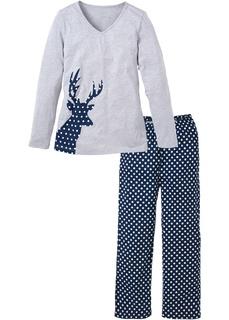 Пижамы Пижама с аппликацией оленя Bonprix