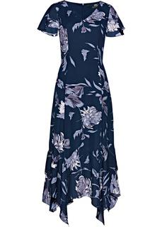 Платья с коротким рукавом Платье с цветочным принтом Bonprix