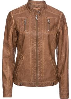 Куртки Куртка из искусственной кожи с эффектом потертости Bonprix