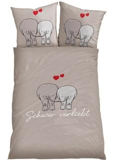 Постельное белье Слоны Bonprix