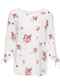 Блузки с длинным рукавом Блузка c драпировкой в узел Bonprix