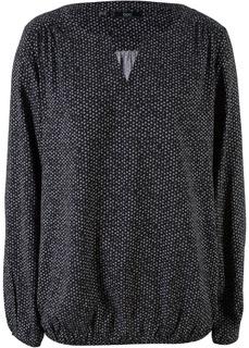 Блузки с длинным рукавом Блузка с длинным рукавом и V-образным вырезом Bonprix