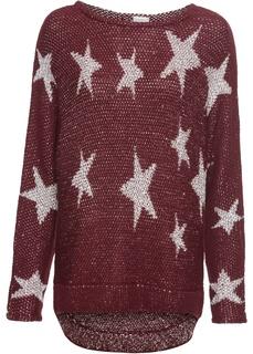 Пуловеры с круглым вырезом Вязаный пуловер с пайетками Bonprix