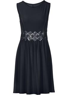 Короткие платья Платье с кружевной вставкой Bonprix