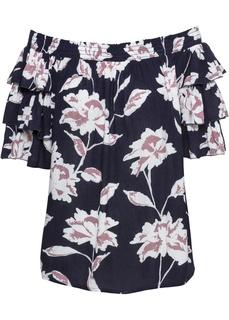 Блузки с коротким рукавом Блузка с вырезом-кармен Bonprix