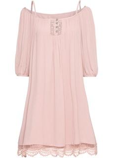 Платья с коротким рукавом Платье с кружевной отделкой Bonprix