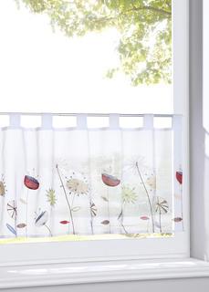 Короткие шторы Кухонная штора с цветочной вышивкой Bonprix