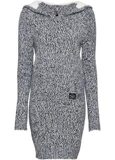 Вязаное платье-анорак Bonprix