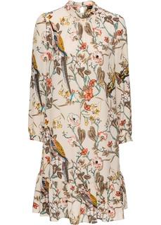 Платья с длинным рукавом Платье с воланами Bonprix