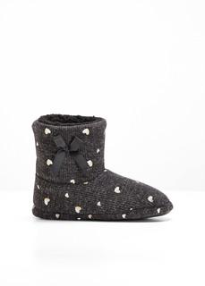 Домашняя обувь Тапочки Сердце Bonprix