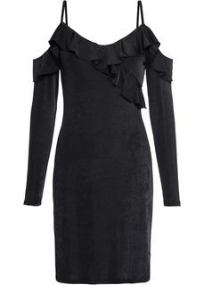 Платья с коротким рукавом Платье с открытыми плечами, трикотаж Bonprix