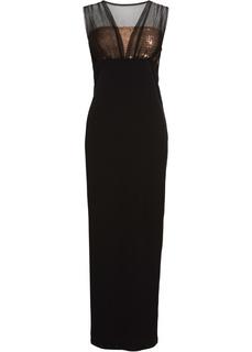 Длинные платья Платье вечернее с сеточкой и пайетками Bonprix