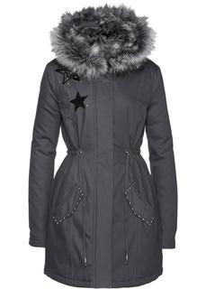 Зимние куртки Парка с воротником из искусственного меха Bonprix