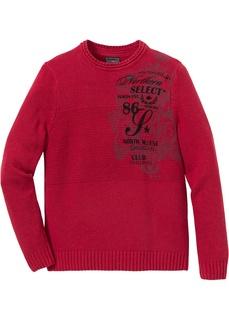 Мужские пуловеры Пуловер с принтом, переработанный хлопок Bonprix