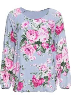 Блузки с длинным рукавом Романтичная блуза в цветочек Bonprix
