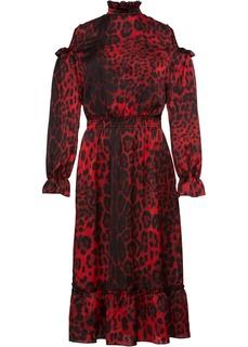 Платья с длинным рукавом Платье с леопардовым принтом Bonprix