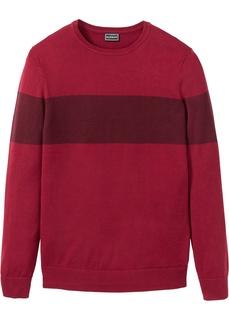 Мужские пуловеры Пуловер с контрастными полосками Bonprix