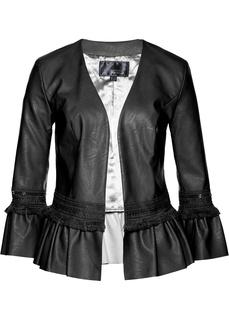 Все куртки Куртка из кожзаменителя с бахромой Bonprix