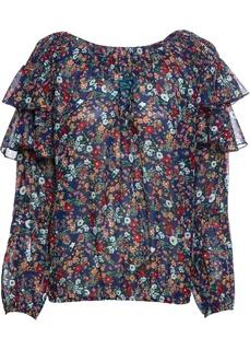 Блузки с длинным рукавом Блузка из шифона в цветочек Bonprix