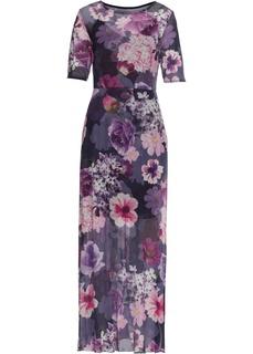 Платья с коротким рукавом Макси-платье с рисунком Bonprix