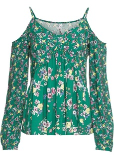 Длинный рукав и V-образный вырез Блузка с открытыми плечами Bonprix