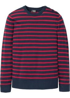 Мужские пуловеры Пуловер Slim Fit с линией пуговиц на плече Bonprix