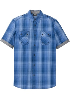 Рубашки с коротким рукавом Рубашка в клетку, специальный покрой в области живота Bonprix