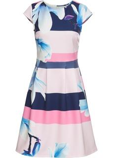 Платья с коротким рукавом Платье из материала под неопрен Bonprix