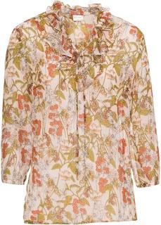 Блузки с длинным рукавом Блузка прозрачная с люрексом Bonprix