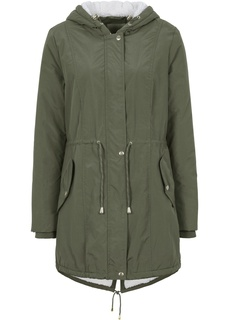Пальто Куртка-парка с подкладкой из плюшевого флиса Bonprix