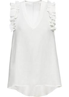 Блузки с коротким рукавом Топ с рюшами Bonprix