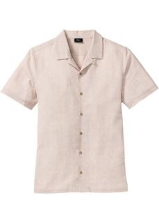 Рубашки с коротким рукавом Рубашка с содержанием льна Bonprix