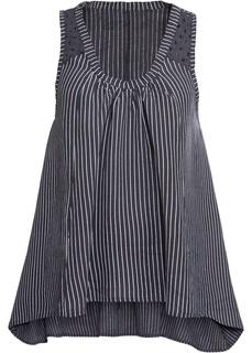 Блузки с коротким рукавом Топ с асимметричным нижним краем Bonprix