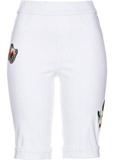 Джинсовые шорты Бермуды джинсовые с вышивкой Bonprix