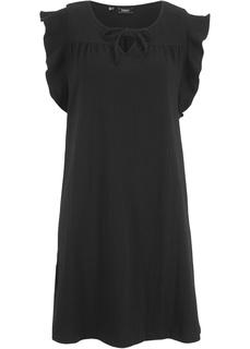 Короткие платья Платье из креповой ткани Bonprix