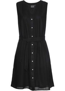 Короткие платья Платье-рубашка с поясом Bonprix