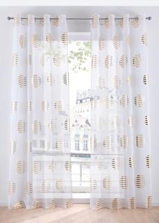 Гардины Прозрачная штора с блестящим принтом (1 шт.) Bonprix