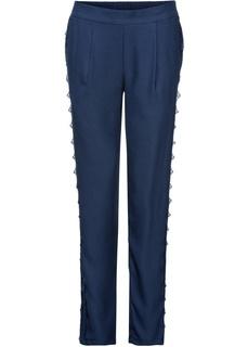 Длинные брюки Брюки с кружевными лампасами Bonprix